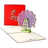 3d Riesenrad Karten Papiermodelle Pop Up Handmade Grukarten