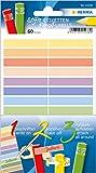 Herma 15238 Stifte-Etiketten für Kinder, mehrere Farben, 60 Namensaufkleber für Stifte aus Papier,...