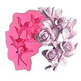 3D Rose Blume Cluster Flüssige Silikon Form Handarbeit Seife Kerze Ornamente Gips Epoxy Form Seife...