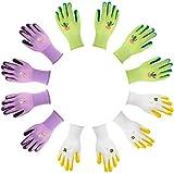 Jardineer 6 Paar Schlamm Gartenhandschuh für Frauen und Männer mit Nylongewebe - Gartenhandschuhe...