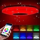 ShangSky Deckenlampen LED Dimmbar,RGB Bluetooth Lautsprecher Musik Schlafzimmer Lampen,mit APP...