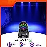 LED Moving Head Disco Lights RGBW 4 in 1 Bühnenbeleuchtung Kanal von DMX 512 Sound aktiviert Groß...