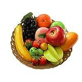 12 Arten von künstlichen Früchten Pack, 12 verschiedene Früchte in einem Set, gefälschte...
