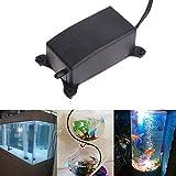 Aquarium Luftpumpe, 2W Mini Ultra Silent Sauerstoffpumpe Aquarium Luftpumpe für Fischbecken