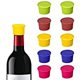 Bolatus 10 Stück Weinflasche Caps, Silikon Kronkorken Weinflaschenverschluss Wiederverwendbar...