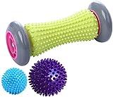 EUKO FußmassageRoller Igelbälle Massageball Fußmassagerollerfür Plantarfasziitis Muskel...