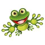 younikat Sticker Funny Frosch I 15 cm I für Laptop Koffer Roller Kühlschrank Tür Mülltonne...