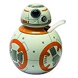 Star Wars 21828 - BB-8 Zuckerdose mit Löffel in Keramik in Geschenkverpackung, 10 x 10 x 14 cm