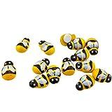 Exceart 200 Stück Kühlschrankmagnete Bienenform Miniatur Mini niedlichen Cartoon Käfer Aufkleber...