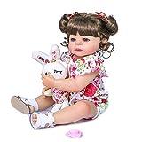 ZHENGX 55cm Realistische Puppe, Volle Weiche Vinyl-Kleinkind-Babypuppe, Lebensechtes Mädchen,...