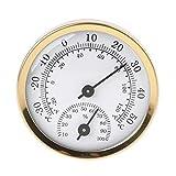 Qianqian56 Analoges Thermometer, Hygrometer, Luftfeuchtigkeit, Temperaturanzeige, 58 mm