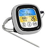 Paperllong Lebensmittel Kochen BBQ Thermometer mit Touch-LED-Anzeige Küchenwerkzeug für Backofen...