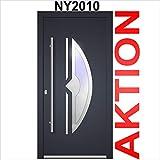 Haustür Welthaus WH75 Standard Aluminium mit Kunststoff NY2010 Amsterdam Tür 1000x2000mm DIN Links...
