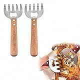 Sarplle Meat Claws 1 Paar Edelstahl Fleisch Krallen Multifunktional Gabeln Mit Handles für Pulled...