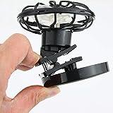 Jaimenalin Clip-On-Solarzelle Fan-Energie-Verkleidungs Kuehlung