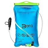 BoraSports Trinkblase 2L mit Beissventil - BPA-frei, antibakteriell und auslaufsicher für jeden...