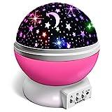 Moredig Nachtlicht Sternenhimmel Projektor, Baby Licht 360° Rotation LED Sternenlicht Lampe...