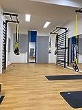ARTIMEX Sprossenwand aus Metall für Gymnastik - Wird in Heimen, Turnhallen oder Fitnesscentern...
