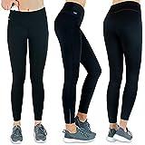 Formbelt® Thermo Leggings Damen Winter Laufhose mit Tasche lang - Stretch-Hose Hüfttasche für...