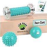 JON BERG Fußmassage Set [3-teilig] - Premium Set bestehend aus Fußmassageroller, Massageball &...