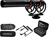 Comica CVM-VM20 Kamera Shotgun Mikrofon, Super-Kardioid Kondensor Video Mikrofon mit OLED Power...