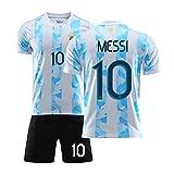 2021 Méssi Argentina Home und Away Football Trikots, Erwachsene und Kinder Fußballtrikots, schnell...