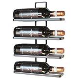 DanDiBo Weinregal Metall Schwarz Wandmontage 4-Wine beliebig erweiterbar Flaschenständer...