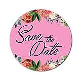 DONL9BAUER Runde Chrysanthemen Floral Border Stickers, Save the Date, Sticker, Hochzeits-Aufkleber,...