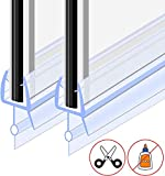 GOLDGE Duschdichtung 2x100CM Duschtür Dichtung Ersatzdichtung Glasstärke 4/5/6 mm für Duschkabine...