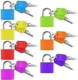 Puzzlos 7 Stück Vorhängeschloss mit Schlüssel Bunt Kofferschloss Set Klein Mini Taschen...