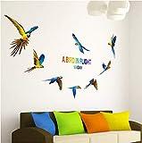 Ara 3d wandaufkleber tier vögel aufkleber wohnzimmer schlafzimmer dekoration wandaufkleber für...