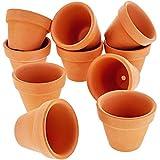 Mini Terrakotta-Blumentopf-Set von Juvale (10 Stück) - Ideal für kleine Zimmerpflanzen, Balkon-...