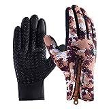 WFZ17 Winter-Outdoor-Handschuhe, 1 Paar Camouflage-Reißverschluss, warme Touchscreen-Handschuhe...