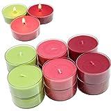 Smart-Planet® Kerzen Ambiente - 12 Stück Jumbo Duftteelichter Teelichte Set Waldbeer Duft fruchtig...