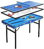 YAMMY Billard Combo 4 In 1 Multi Game Tischset Mini Tischset Stetiger Billardtisch Hockey...