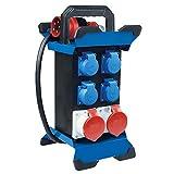 as - Schwabe Tragbarer Stromverteiler STECKY 11 Stecker + 4 Schuko-Dosen + 2 CEE-Buchsen – Mobiler...