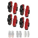 P4B | 4 Paar Hydraulik Power Pads für Magura in Rot - 50 mm | Geräuscharme Bremsbeläge für...