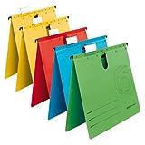 Herlitz 5874953 Hängehefter A4 UniReg kaufmännisch, Kraftkarton, 230 g/qm, 5er Packung (Farben...