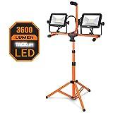 TACKLIFE LED Arbeitsleuchte mit Stativ 3600 Lumen mit zwei Arbeitsscheinwerfer mit 40 Watt...