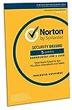 Norton Security Deluxe 2019 | 5 Gerte | 1 Jahr | PC/Mac/iOS/Android | Download, Aktivierungscode in...