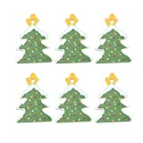 SOIMISS 100Pcs Weihnachtsbaum Holzknöpfe 1 Loch Nähen Bastelknopf Weihnachtsstil Knöpfe DIY...