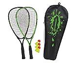 Schildkröt Speed-Badminton Set, 2 handliche Aluminium-Rackets, Länge 54,5cm, 3 windstabile Bälle,...