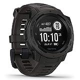Garmin Instinct – wasserdichte Sport-Smartwatch mit Smartphone Benachrichtigungen und...