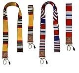 Schlüsselband & Armband & Ausweishalter Schlüsselanhänger & Umhängeband (2+2) für Damen &...
