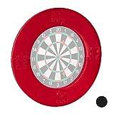 Relaxdays Unisex Erwachsene Dart Catchring R7, 4-teilig, Schutzring fr 45 cm Dartscheibe, stabiler...