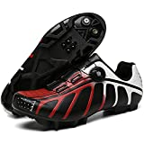 YQSHOES Herren Mountainbike Schuhe Atmungsaktives Mountainbike Kompatible SPD Bike Cleats Indoor...