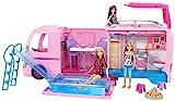 Barbie FBR34 - Super Abenteuer Camper, Puppen Camping Wohnwagen mit Zubehör, Mädchen Spielzeug ab...