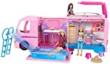 Barbie FBR34 - Super Abenteuer Camper, Puppen Camping Wohnwagen mit Zubehr, Mdchen Spielzeug ab 3...