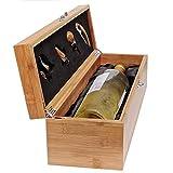 Case Elegance Wein Geschenk Box - Weinzubehör für 0,7 Liter Flaschen - Dekantierset Sommelier Set...