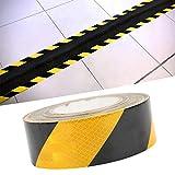 Sicherheitsband, Klebeband, 50 mm x 20 m schwarzes Band für werksseitige Bordstein-Servicewagen